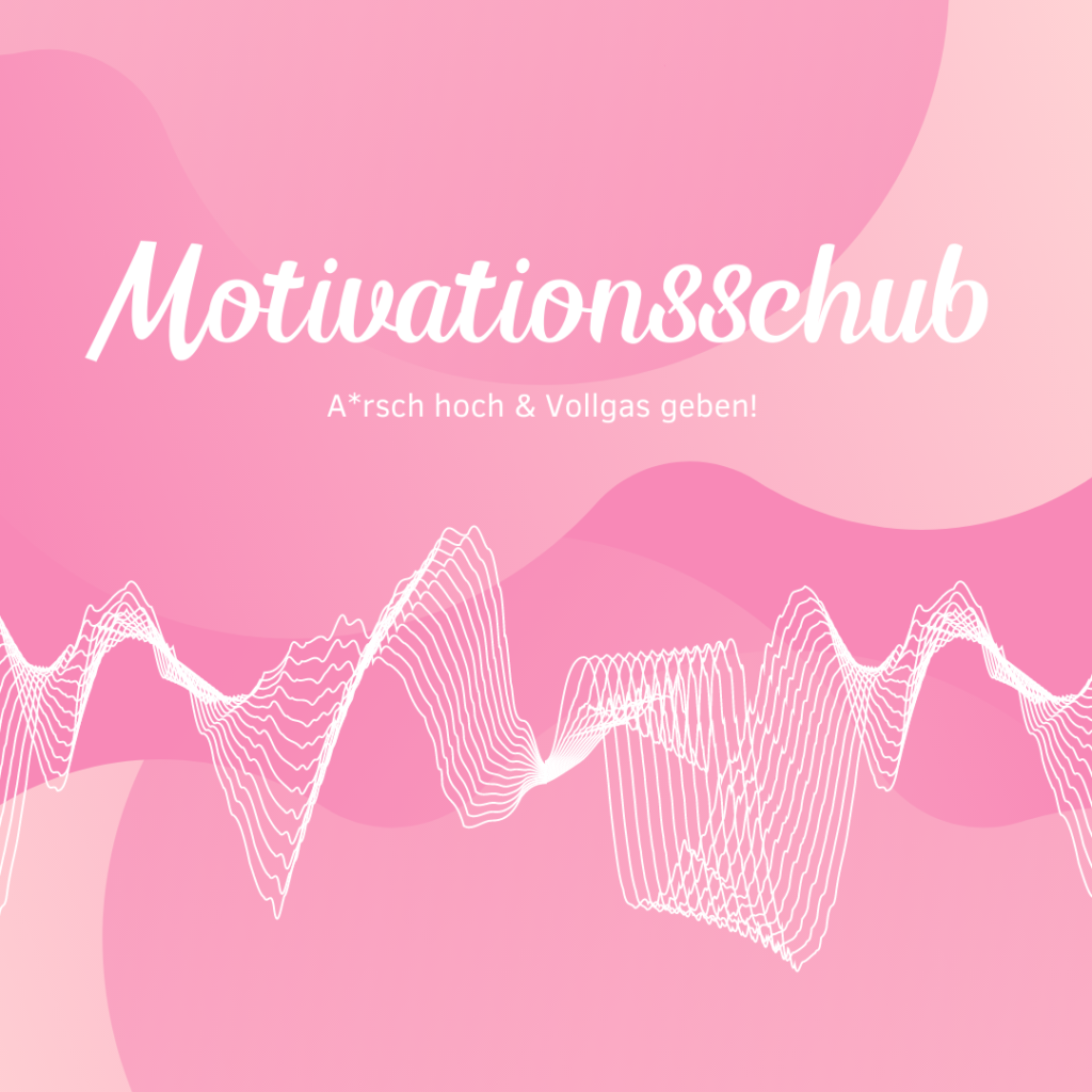 Playlist Titelbild rosa Motivationsschub, motivierende Songs